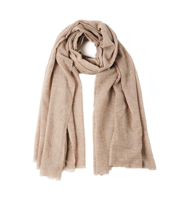 CUDDLE DREAMS Lightweight Cashmere Wool Scarf Wrap for Spring- Fluffy and Soft- FINAL CLEARANCE SALE - Camel - CS187RC5QZM