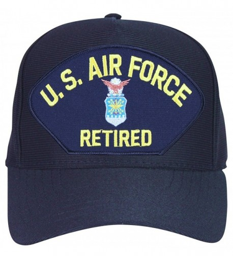 U.S. Air Force Retired with Crest Baseball Cap. Navy Blue. Made in USA - CQ12O4RSHK7