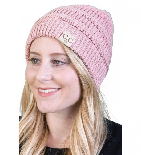 Light Weight 365 Day All Season Womens Funky Junque's CC Beanie Hat Skull Cap - Indi Pink - CM17AYZ3KRY