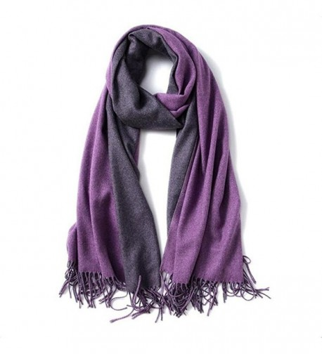 "Large 79""x28"" Women Soft Cashmere Shawls Wool Wraps Fashion Stole Scarf - Purple - C61879UM8O6"