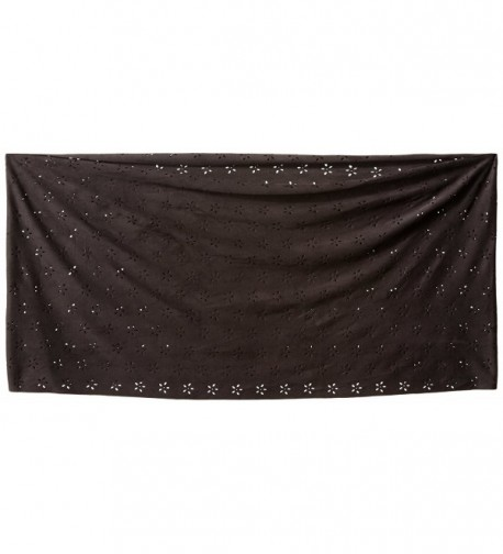 Womens Faux Suede Scarf Black