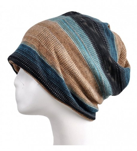 Qunson Baggy Slouchy Beanie Skull Cap Winter Hat for Men Women - C - C31860M0KUZ