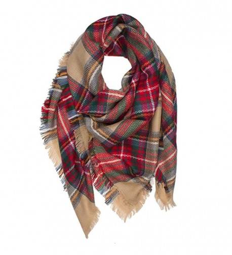WOZHIFU Women's Stylish Warm Blanket Scarf Gorgeous Wrap Shawl - CR1859ML86M