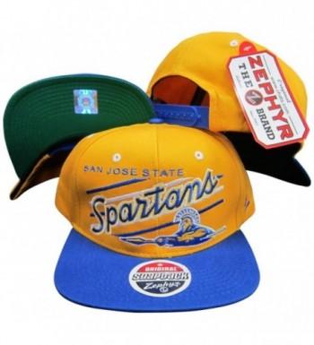 San Jose State Spartans Adjustable Plastic Snapback Hat / Cap - CD116QJGJ1Z
