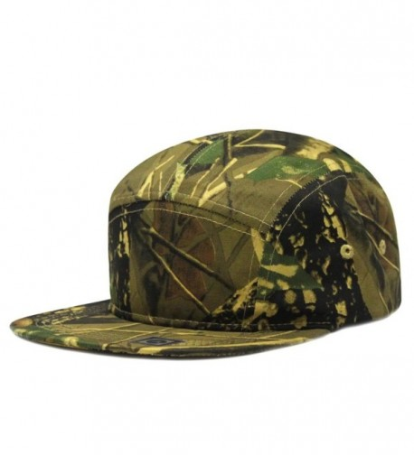 City Hunter Cn580p Plain Camouflage 5 Panel Biker Hat (4 Colors) - Forest camo - CR11K1F8S9V