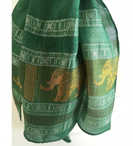 Oma Scarf Elephant Design Large in Wraps & Pashminas