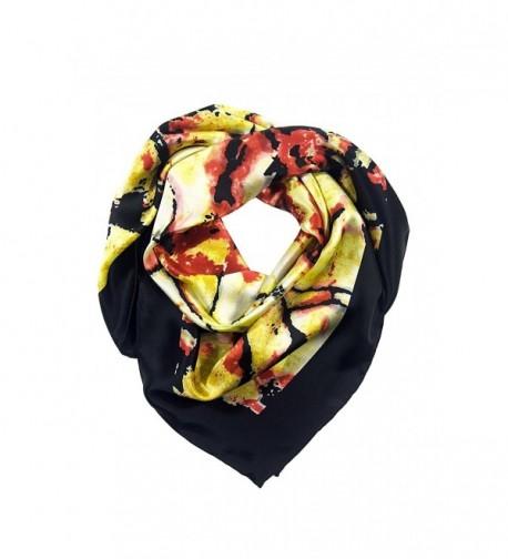 TexereSilk Women's 100% Silk Black Fashion Scarf - Beautiful Gift Ideas AS0021 - Multicolored - CG112262OVF