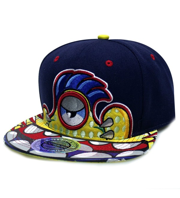 City Hunter Cf1559 Clolorul Big Mouth Character Snapback Hats(3colors) - Navy/ - CI124WR2JJX