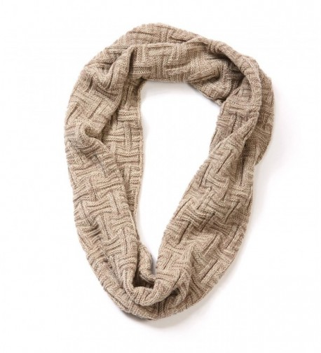 EUPHIE YING Womens Infinity Scarf Beige in Fashion Scarves