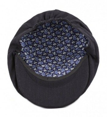 306dd7d4c Men's Linen Paisley Lining 8 Panel Applejack Gatsby Newsboy Ivy Hat Black  CF12EUMK8VL