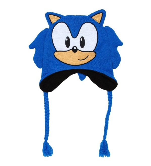 Sonic Men S Hedgehog Winter Hat 100 Acrylic Peruvian Knit Royal One Size Ct12n8swnib