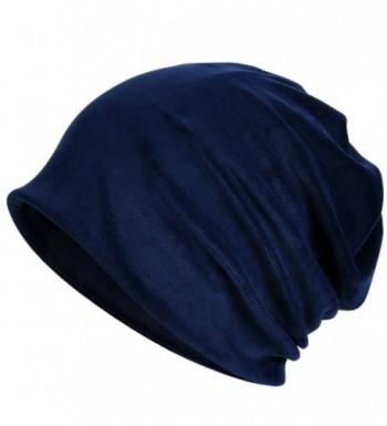 Kuyou Women's Multifunction Pure velvet pattern Hat Skull Cap scarf (Blue) - CR1880UDN9H