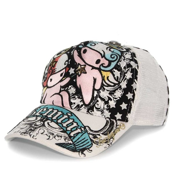 Four 41 Gemini Horoscope Embroidered Mesh Trucker Hat Cap - White - CD17Z26QZKI
