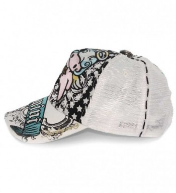 Gemini Horoscope Embroidered Trucker White in Women's Baseball Caps