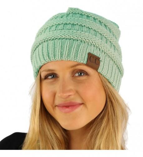 Unisex Winter Chunky Stretch Hat in Men's Skullies & Beanies