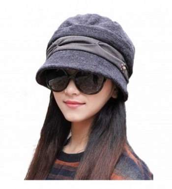 Judy Womens Crochet Cloche Hat Steampunk Style in Graphite Gray for Women Science Fiction Diagonal Wide Flap Brim Winter Accessories Gift