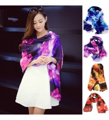 JOYJULY Starry Printing Chiffon Scarves in Fashion Scarves