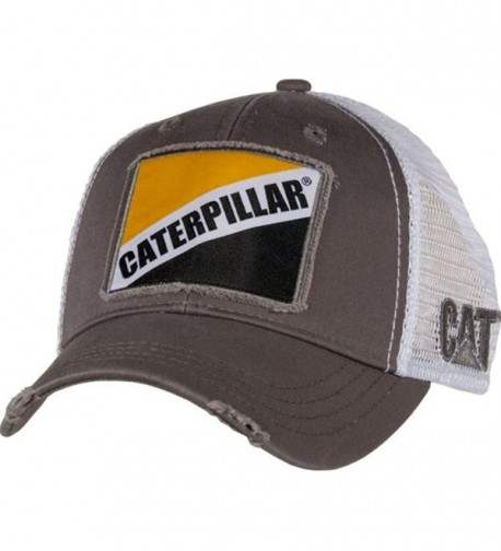 Cat Gray Twill w/ Caterpillar Patch Cap - CA12N22ECTS