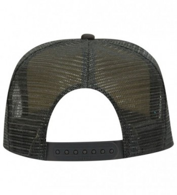 11d8c2fe2 Otto Polyester Foam Front 5 Panel High Crown Mesh Back Trucker Hat Char.  Gray CH12EXF2511