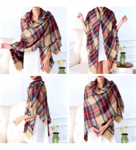 Selighting Womens Oversized Square Blanket in Fashion Scarves