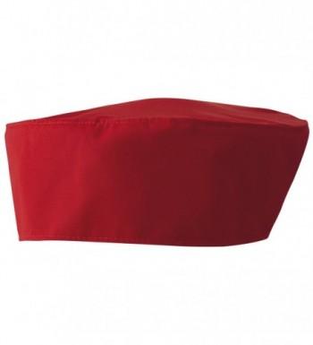 Premier Unisex Chefs Skull Cap - Red - C911CKMO5CR