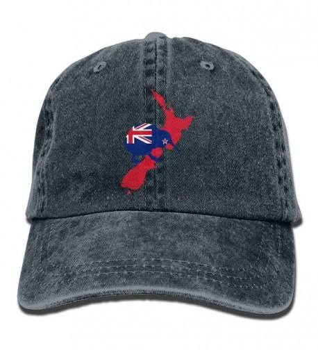 Kiwi Of New Zealand Cotton Denim Adjustable Unisex Cricket Cap For Men Or Women - Navy - CO1870DX0N7