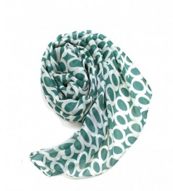 Modadorn Circle Print Chiffon Scarf in Fashion Scarves