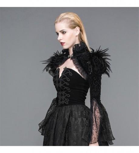 Gothic Steampunk Feathers Tassel Pashmina