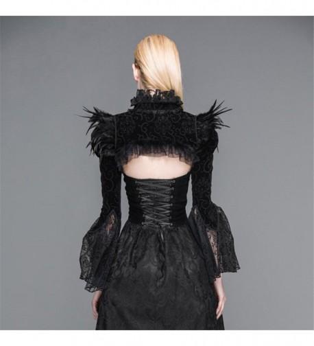 Gothic Steampunk Feathers Tassel Pashmina in Wraps & Pashminas