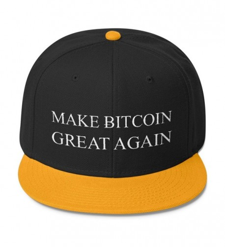 Make Bitcoin Great Again Hat - Otto Wool Blend Snapback - Gld/Blk/Blk - CY17YEI3I4T