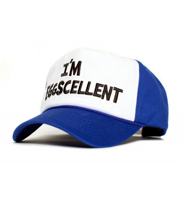 I'm Eggscellent Embroidered Cloth & Braid Hat Cap Eggcelent Excellent Roya Curved - CT12O367L9J