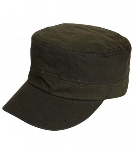 Unisex Fitted Military Adjustable 52 58cm - Army Green - CX12NH16YPJ