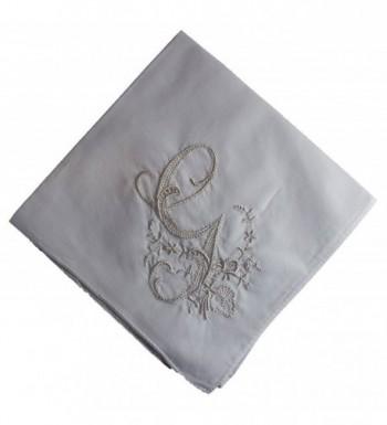 Wren Song HANDKERCHIEF - LADIES WHITE HANDKERCHIEF with Monogram 3 Pack - G - CG17YQOS64S