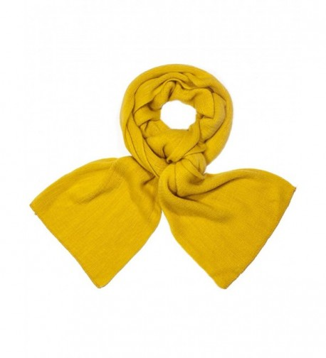 Dahlia Women's Super Soft Cashmere-Feel Winter Scarf - Solid Color - Yellow - CO11QWMLM27