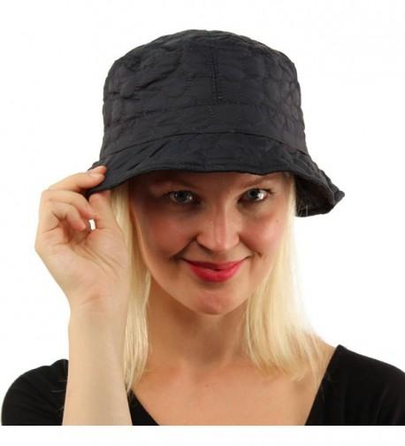 All Season Weather Warm Plush Foldable Bucket Fisherman Adjustable Hat Cap - Navy - CC186OS0X2O