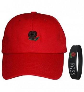 FGSS Unisex Rose Embroidered Adjustable Strapback Dad Hat Baseball Cap Mutiple Colors - CD12NAGUSD9