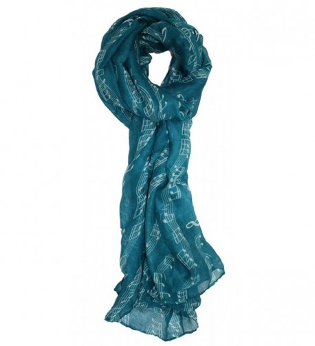 Ted and Jack - Sweet Symphony Allover Music Notes Scarf - Teal - CT12F92GGE9