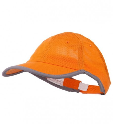 Athletic Mesh Ponytail Cap - Orange - C111RNPELU7