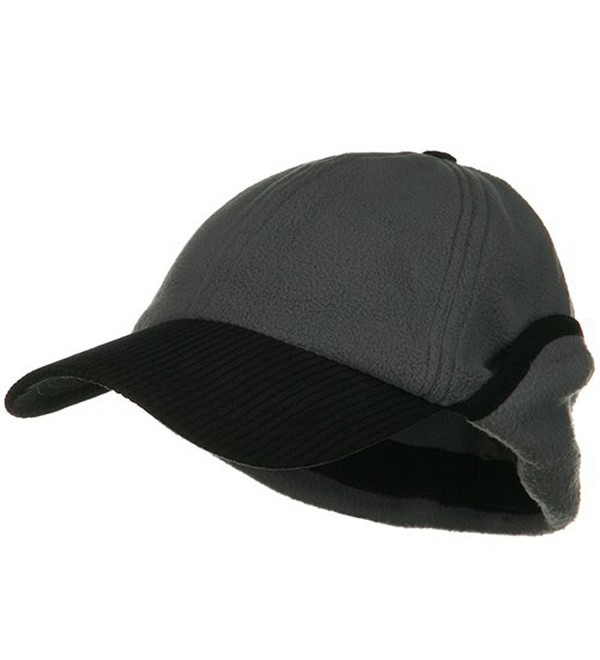 Anti Pilling Fleece Cap with Warmer Flap - Charcoal - CB1155GPX4J