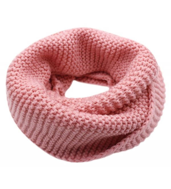 CC-US Women Winter Infinity Scarf Knit Neckerchief Warm Circle Loop Shawl - Pink - C8184HWH7M6