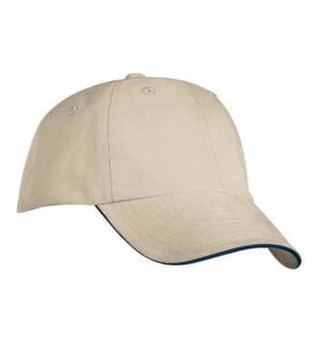 Port Authority Signature Sandwich Bill Cap- Beige and Navy - CZ113MW9C27