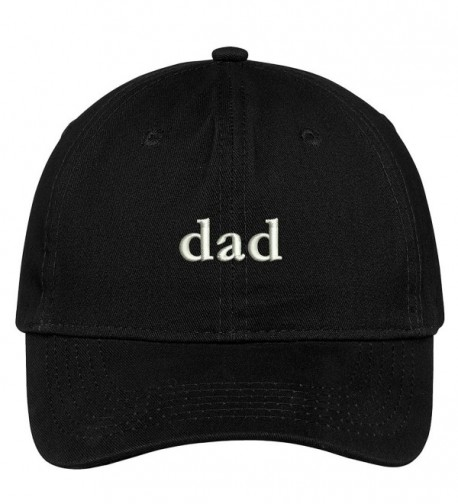 Trendy Apparel Shop Dad Embroidered Soft Low Profile Cotton Cap Dad Hat - Black - CY17WUSWN8M