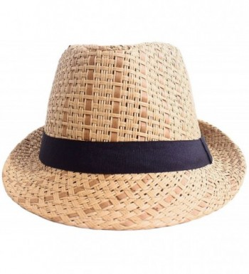 Straw Fedora Womens Summer Short