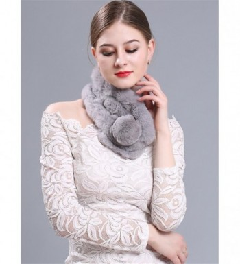 LITHER Rabbit Collar Scarves winter