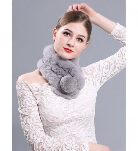 LITHER Rabbit Collar Scarves winter in Fashion Scarves