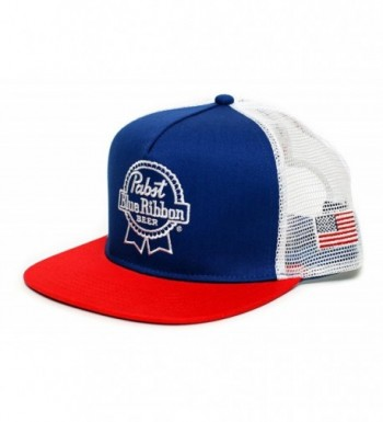 Pabst Blue Ribbon Embroidered PBR Cap Hat Flat Bill One-Size Adult Unisex Multi - CS183IYGL7A
