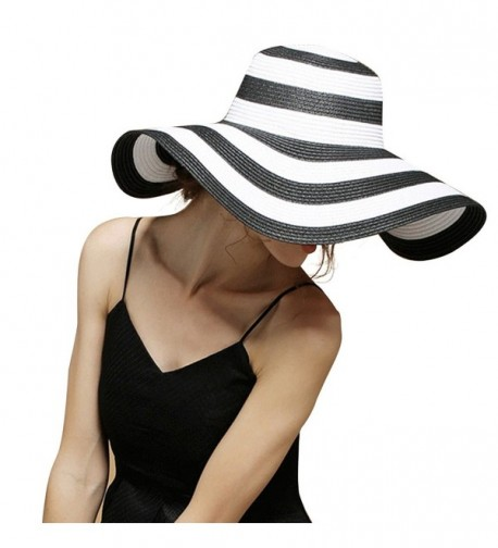 Beach Women Floppy Stripes Elegant in Women's Sun Hats