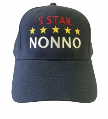 G4FF 5 Star Nonno Grandpa in Italian Baseball Hat - Blue - CI11OJH4Y4Z