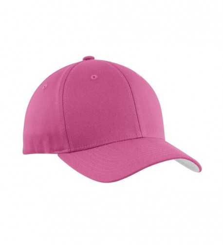 Port Authority Men's Flexfit Cotton Twill Cap - Charity Pink - CV11NGRB8CP