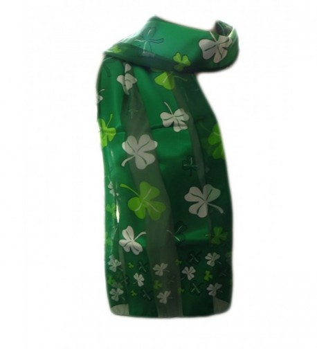 New Company Womens St Patrick Day Clovers Shamrocks Scarf - Green - One Size - CY11IUGE4T1
